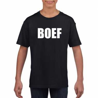 Goedkope boef carnaval t shirt zwart voor jongens en meisjes
