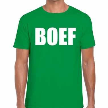 Goedkope boef fun t shirt groen voor heren
