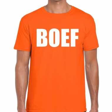 Goedkope boef fun t shirt oranje voor heren