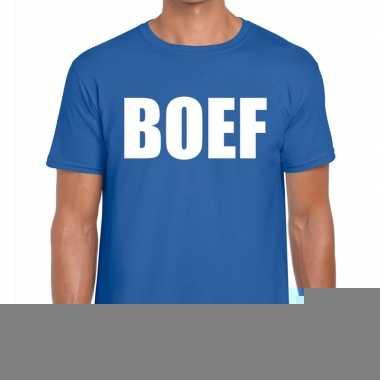 Goedkope boef fun t shirt voor heren blauw
