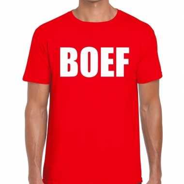Goedkope boef fun t shirt voor heren rood