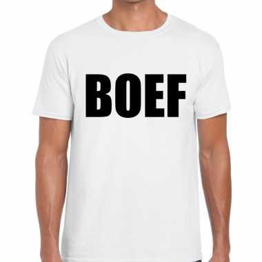 Goedkope boef fun t shirt voor heren wit