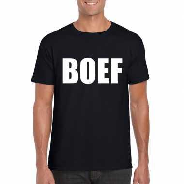 Goedkope boef fun t shirt zwart voor heren