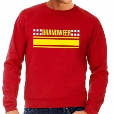 Goedkope brandweerman sweater / trui rood voor heren