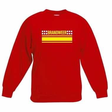 Goedkope brandweerman sweater / trui rood voor kinderen