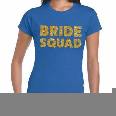 Goedkope bride squad fun t shirt blauw voor dames
