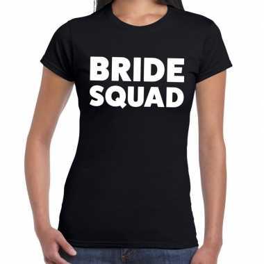 Goedkope bride squad fun t shirt zwart voor dames