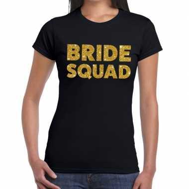 Goedkope bride squad goud fun t shirt zwart voor dames