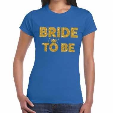 Goedkope bride to be fun t shirt blauw voor dames