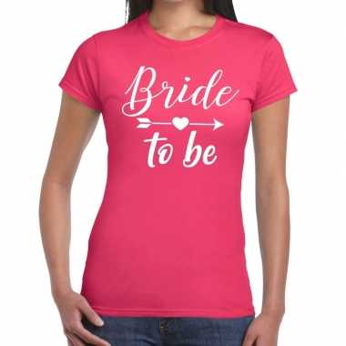 Goedkope bride to be fun t shirt roze voor dames