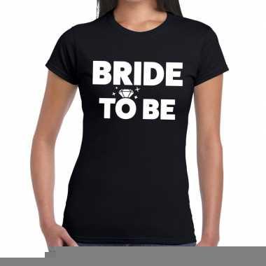 Goedkope bride to be fun t shirt zwart voor dames