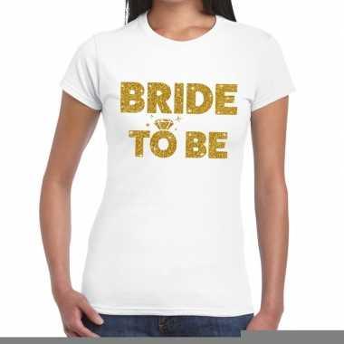 Goedkope bride to be goud fun t shirt wit voor dames
