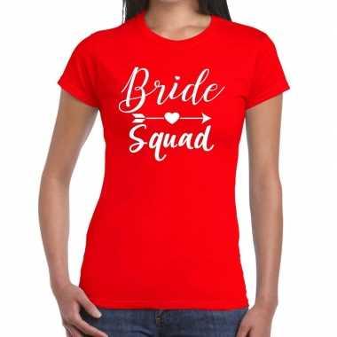 Goedkope bride to be vrijgezellenfeest t shirt rood voor dames