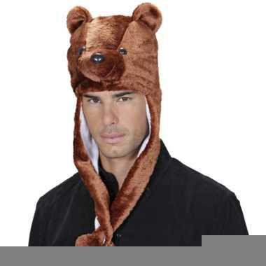 Goedkope bruine beer muts voor volwassenen