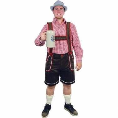 Goedkope bruine bierfeest/oktoberfest broek verkleedkleren voor heren