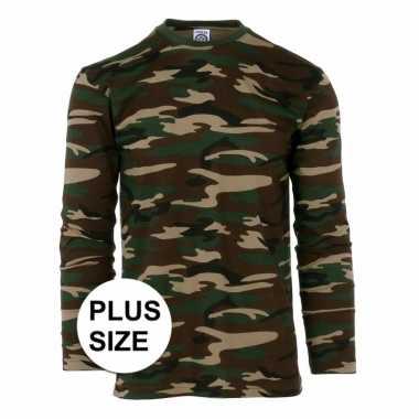 Goedkope camouflage shirt longsleeve plus size
