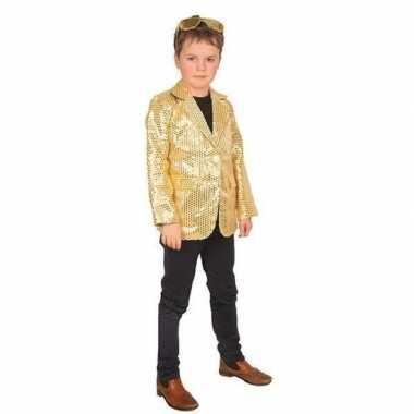 Goedkope carnaval colbert jasje goud voor kinderen