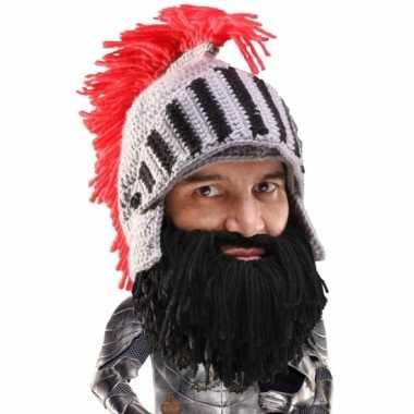 Goedkope carnaval ridder baardmuts met zwarte baard