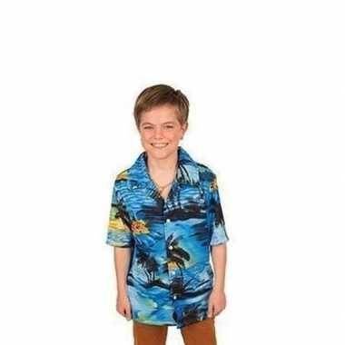 Goedkope carnaval verkleed shirt blauw voor jongens