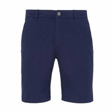 Goedkope chino korte broek navy voor heren