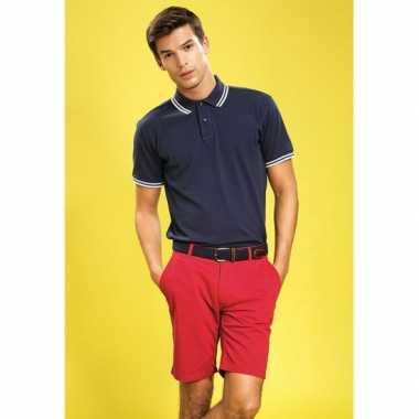 Goedkope chino korte broek rood voor heren