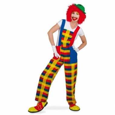 Goedkope clown verkleedkostuum tuinbroek