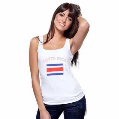Goedkope costa rica vlag tanktop t-shirt voor dames