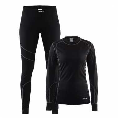 Goedkope craft thermo ondergoed set zwart voor dames