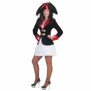 Goedkope dames piraten verkleed jurkje en jas