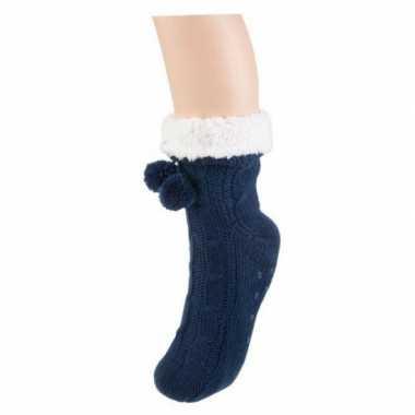 Goedkope dames sokken voor in huis navy