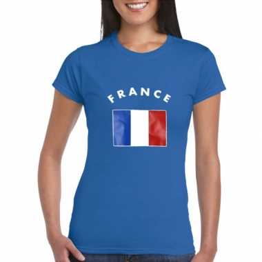 Goedkope dames t-shirt met de franse vlag
