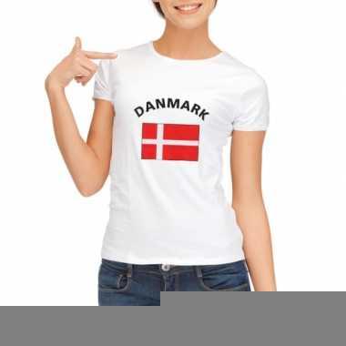 Goedkope deense vlag t-shirt voor dames