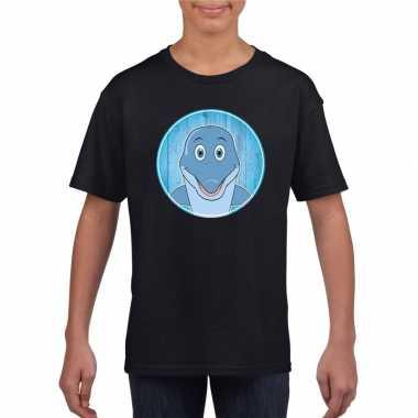 Goedkope dieren dolfijn shirt zwart jongens en meisjes