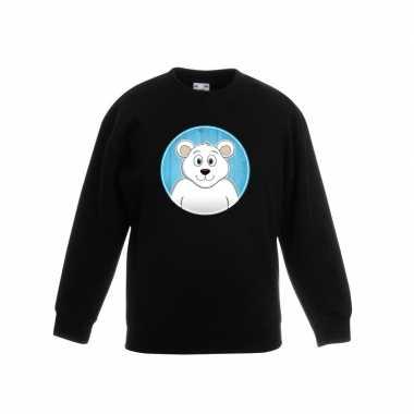 Goedkope dieren ijsbeer trui zwart jongens en meisjes