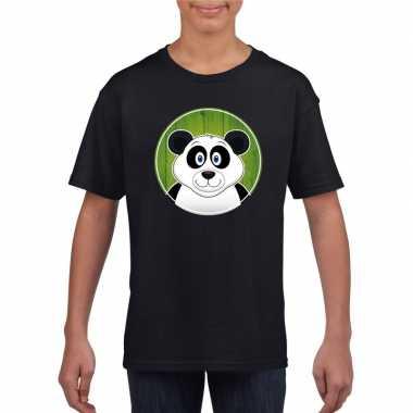 Goedkope dieren panda shirt zwart jongens en meisjes