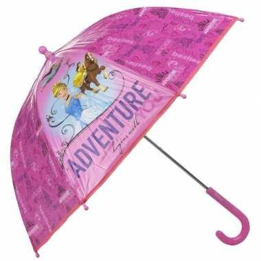 Goedkope disneys assepoester belle en jasmine kleine paraplu roze 45 cm voor meisjes