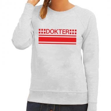 Goedkope dokter sweater / trui grijs voor dames