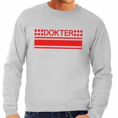 Goedkope dokter sweater / trui grijs voor heren