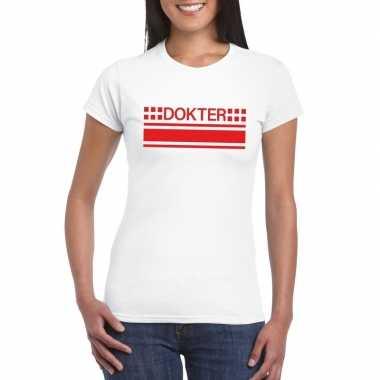 Goedkope dokters t shirt wit voor dames