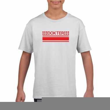Goedkope dokters t shirt wit voor kinderen
