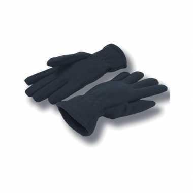Goedkope donkerblauwe handschoenen fleece voor dames/heren