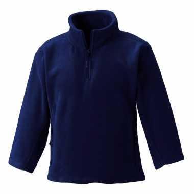 Goedkope donkerblauwe polyester fleece trui voor meisjes
