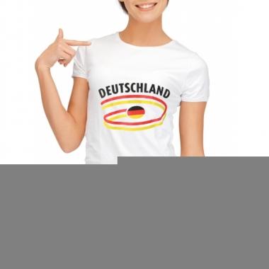 Goedkope duitsland t-shirt voor dames met vlaggen print