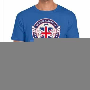 Goedkope engeland drinking team t shirt blauw heren