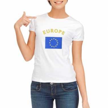 Goedkope europese vlag t shirt voor dames