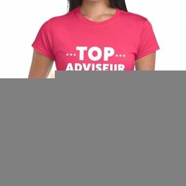 Goedkope evenementen tekst t shirt roze met top adviseur bedrukking v