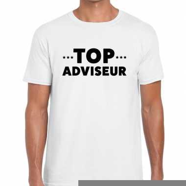 Goedkope evenementen tekst t shirt wit met top adviseur bedrukking vo