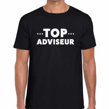 Goedkope evenementen tekst t shirt zwart met top adviseur bedrukking