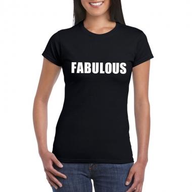 Goedkope fabulous fun t shirt zwart voor dames