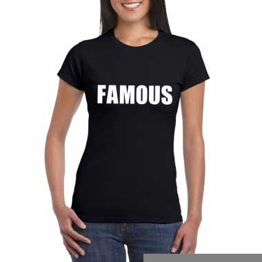 Goedkope famous fun t shirt zwart voor dames